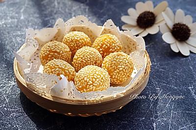 南瓜小麻球--很受小朋友欢迎的小甜点