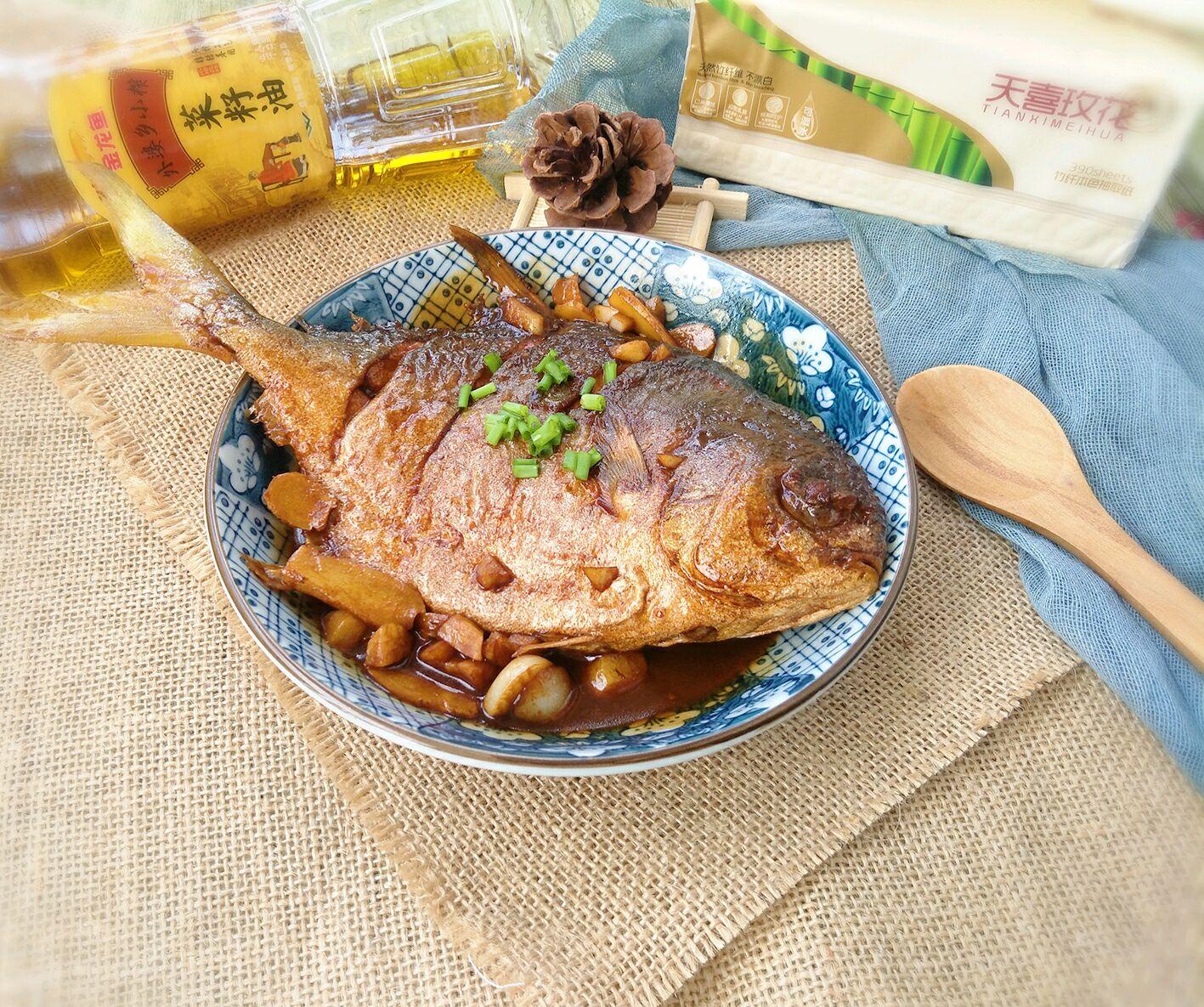 红烧金家乡#金龙鱼鲳鱼乡小榨菜籽油最强牛尾菜大全汤下奶外婆做法2014图片