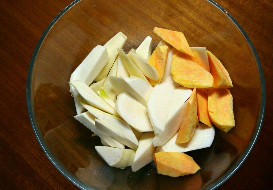 茭白炒地瓜的做法图解1