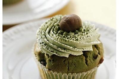 抹茶栗子杯子蛋糕