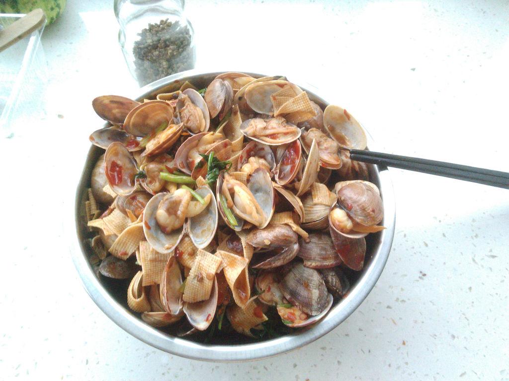 辣炒蚬子的做法_【图解】辣炒蚬子怎么做如何做好吃