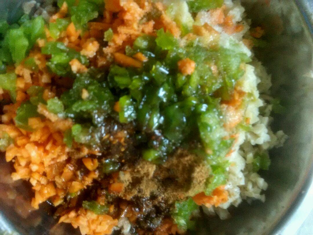 彩色饺子馅的做法步骤