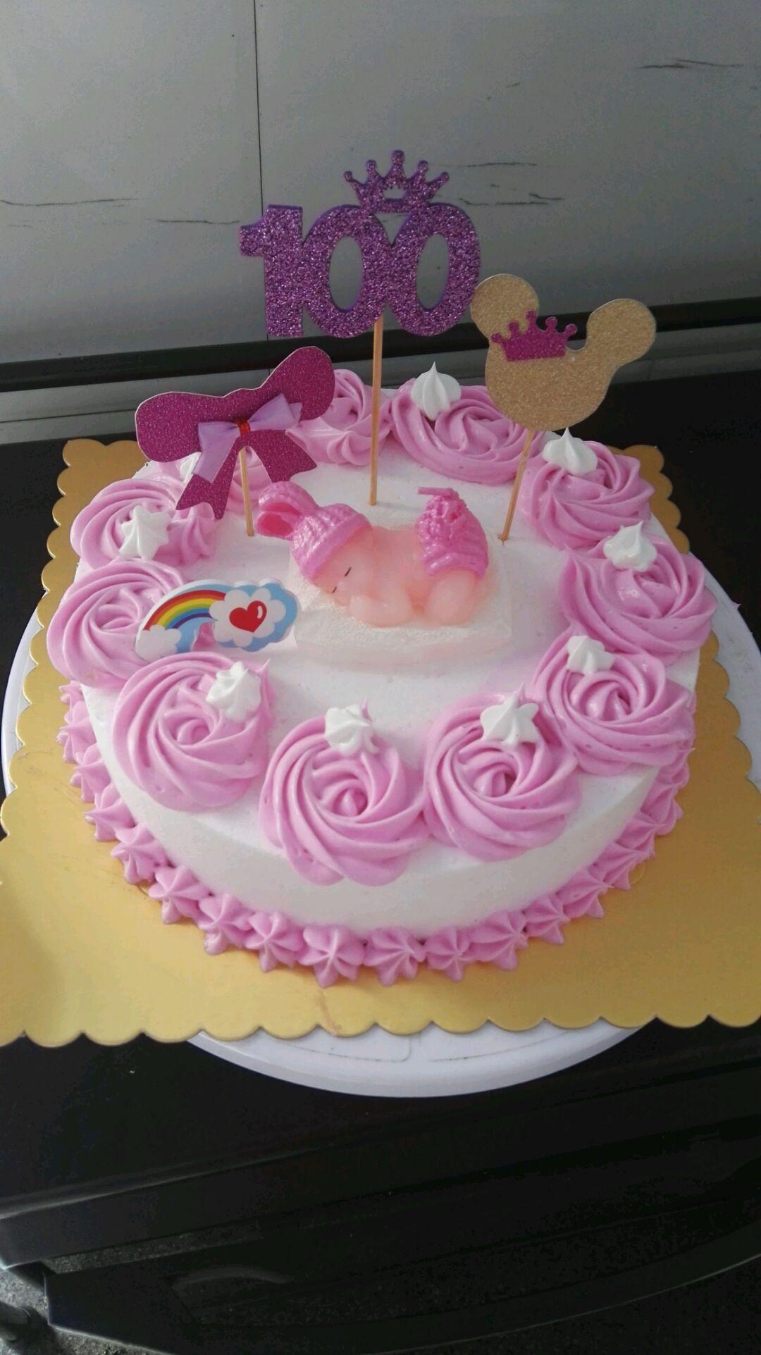 可爱萌宝宝生日蛋糕