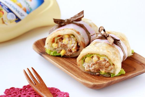 金枪鱼玉米粒手抓饼|快手早餐#法国乐禧瑞,百年调味之巅#的做法
