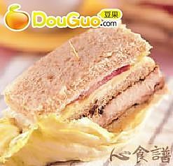 香料鸡排总匯三明治的做法