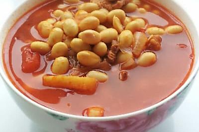产妇进补汤品——番茄牛肉黄豆汤