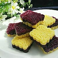 紫薯绿豆糕(免炒制)#发现粗食之美#