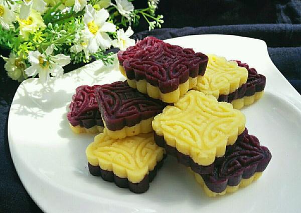 紫薯绿豆糕(免炒制)