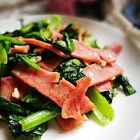 蒜香火腿炒青菜