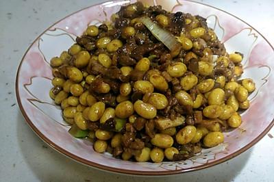 小米家常菜之 肉丁酱炒黄豆