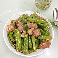 四季豆炒排骨