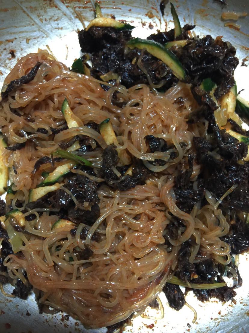 韩式拌菜的做法图解1