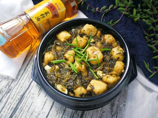 雪菜酿豆腐泡粉丝煲