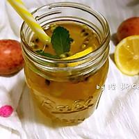 百香果柠檬薄荷蜜水果茶#单挑夏天#