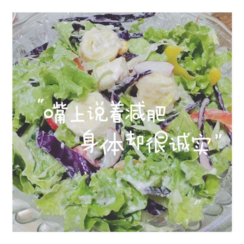彩椒 小柿子 春桃 黄瓜 水萝卜 沙拉酱(千岛酱) 蔬菜沙拉的做法步骤
