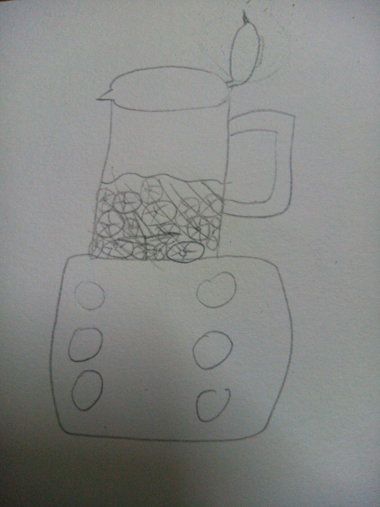 制作香蕉奶昔简笔画