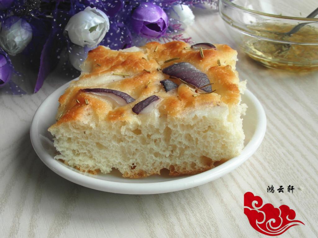 佛卡夏面包#美的绅士烤箱#的做法_【图解】佛卡夏面包