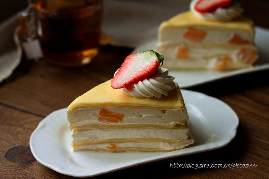 千层蛋糕的做法_款待亲朋的下午茶的好点心~芒果千层蛋糕~的做法