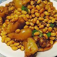 黄豆炖猪蹄(无油)