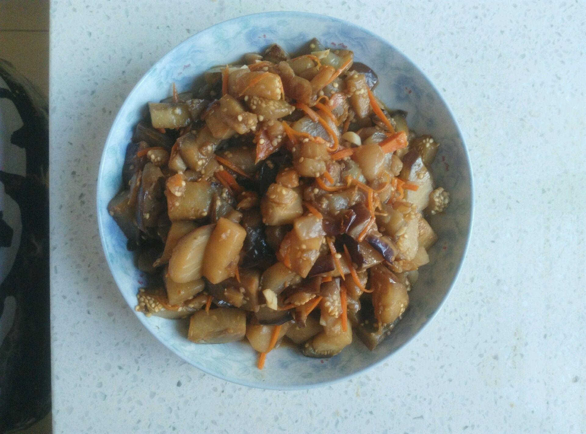 糖醋茄子(低油版)的做法_【图解】糖醋茄子(低油版)做