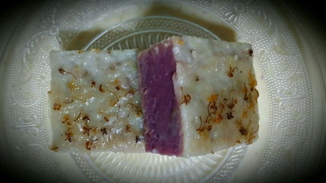 紫薯桂花糕的做法图解2