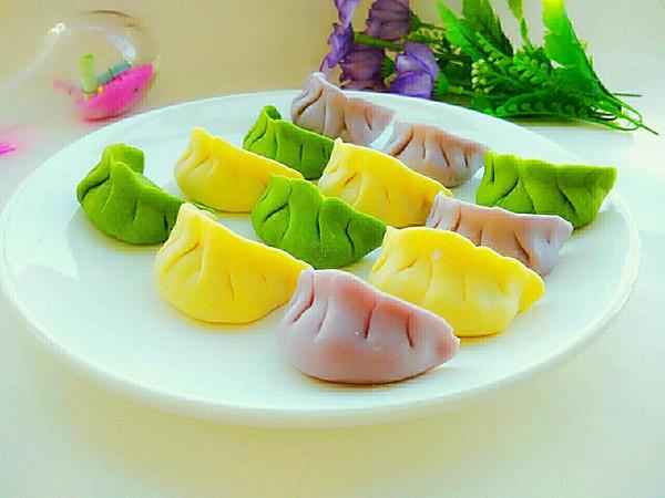 彩色饺子#快乐宝宝餐#