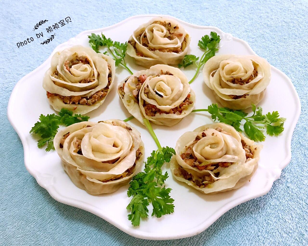 玫瑰蒸饺#我买新鲜味#的做法图解9