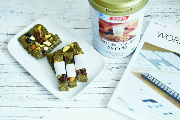 健身能量棒|抹茶燕麦能量棒的做法