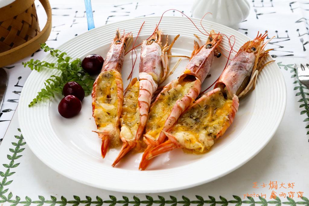 芝士焗大虾图片