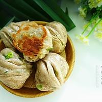 褐麦粉水煎花卷#樱花味道#