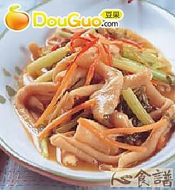 芹菜炒鸭肠的做法