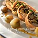 兔肉卷虾仁蘑菇