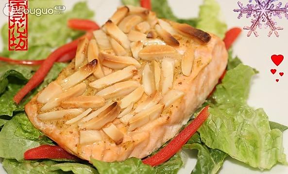 烤芥末三文鱼的做法