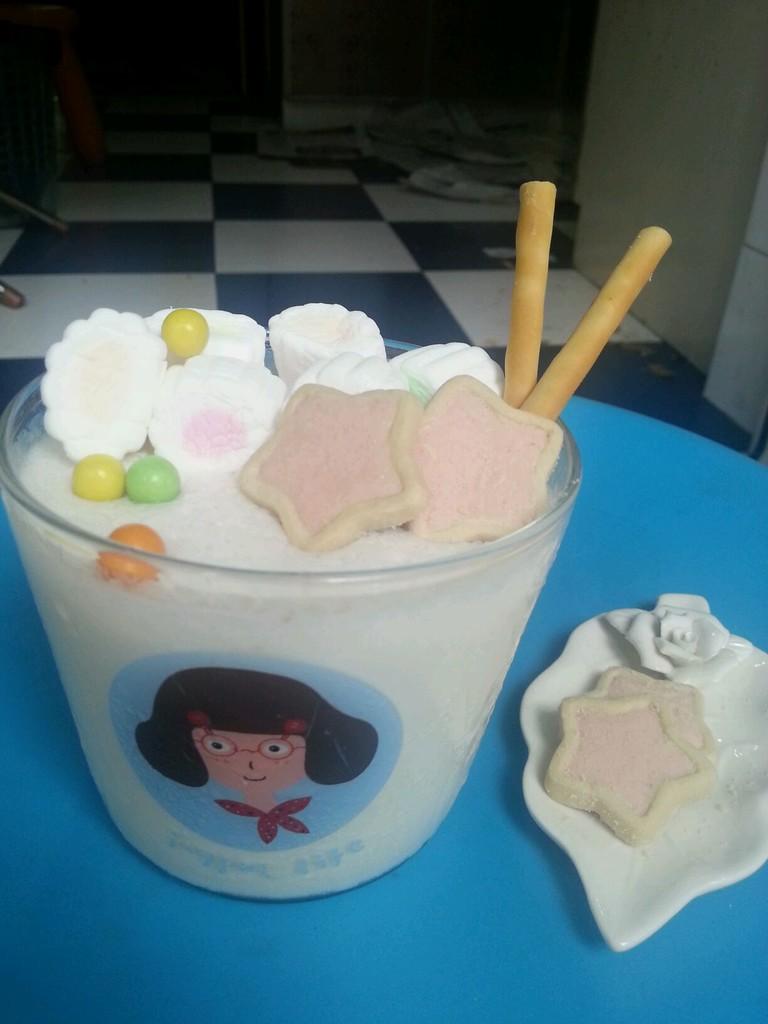 棉花糖牛奶布丁的做法图解7