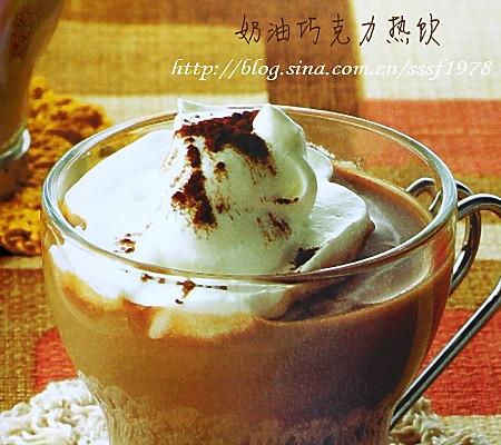 奶油巧克力热饮的做法