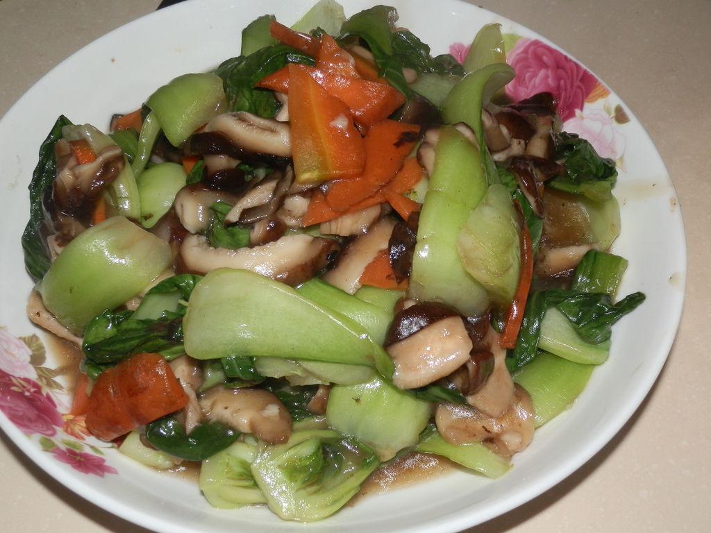 香菇油菜 香菇油菜 正宗做法步骤 高清图片