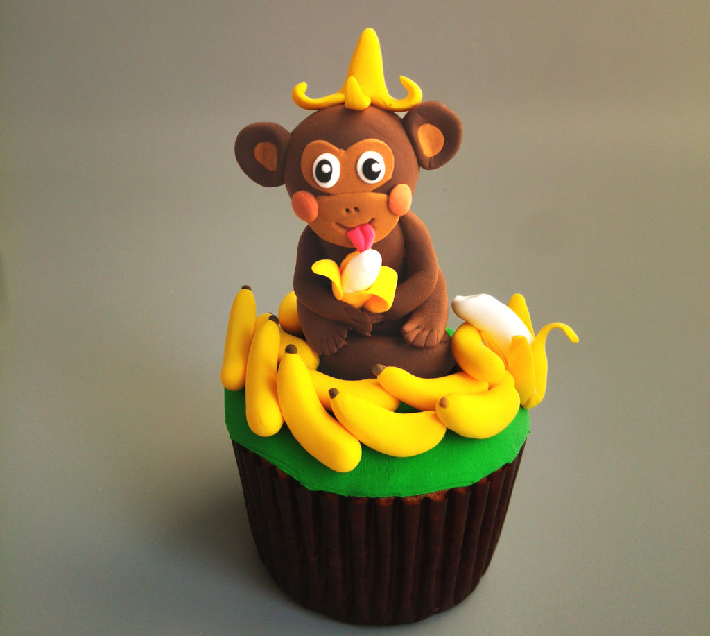 猴赛雷翻糖杯蛋糕