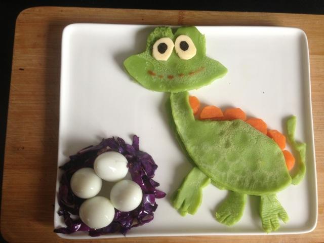 宝宝创意童趣早餐之恐龙的做法图解4图片