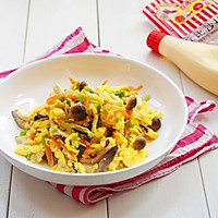 丘比沙拉酱—鲜菌菇滑蛋