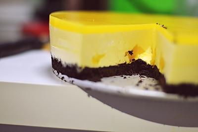8寸芒果慕斯蛋糕