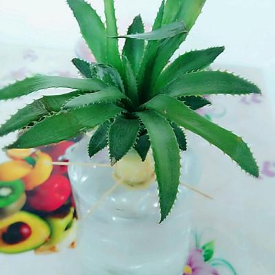 清新水培菠萝的做法_【图解】清新水培菠萝怎么做好吃