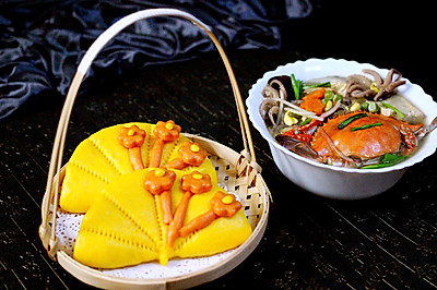 荷叶饼&大白菜炖海鲜