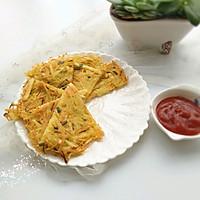 土豆丝煎饼#樱花味道#