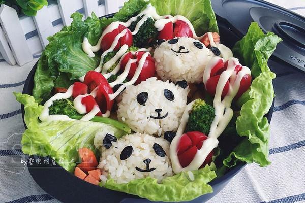 熊猫三宝逛森林元气便当#理想生活实验室#的做法