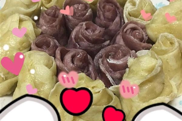 珠串玫瑰花编法图解展示