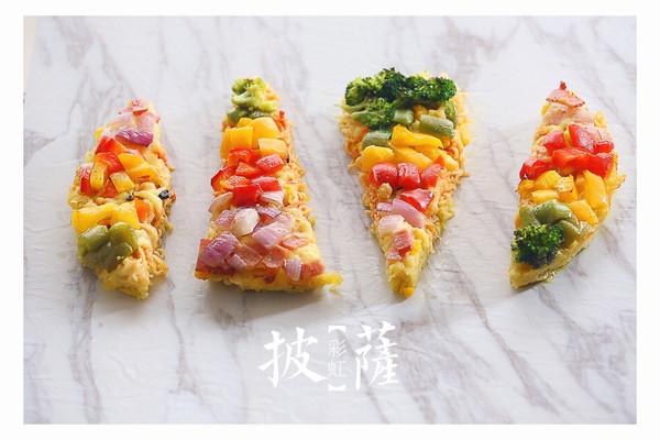 彩虹方便面披萨#小虾创意料理#的做法