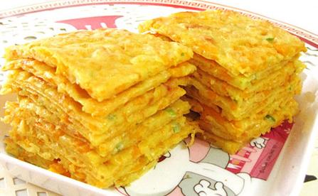 宝宝菜谱----鸡蛋南瓜饼图片