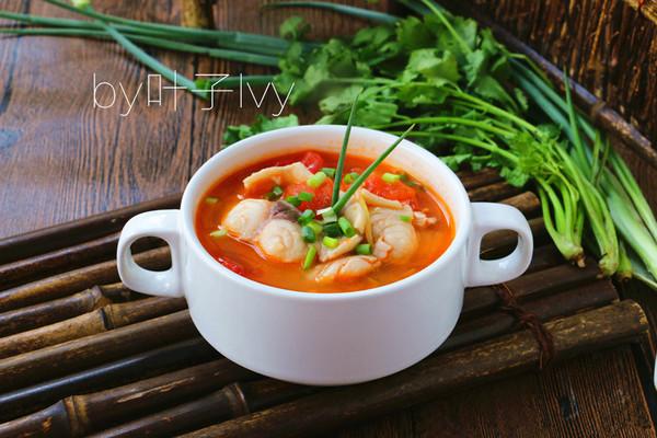 开胃番茄鱼片汤的做法