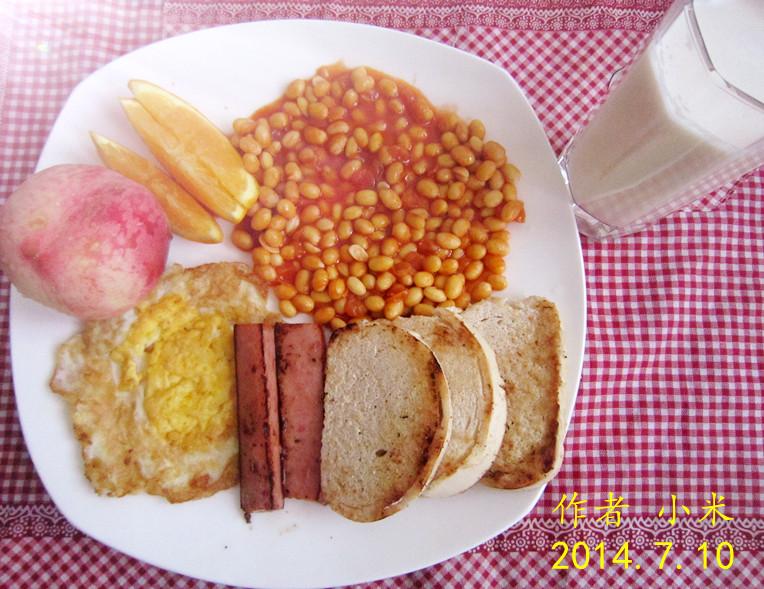 简单的英式早餐