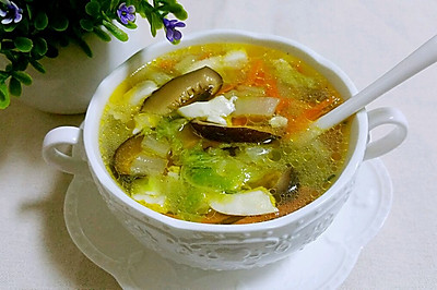白菜豆腐三丝汤